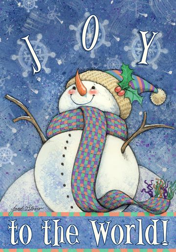 Joy to the World by Janet Stever ~ Christmas ~ snowman