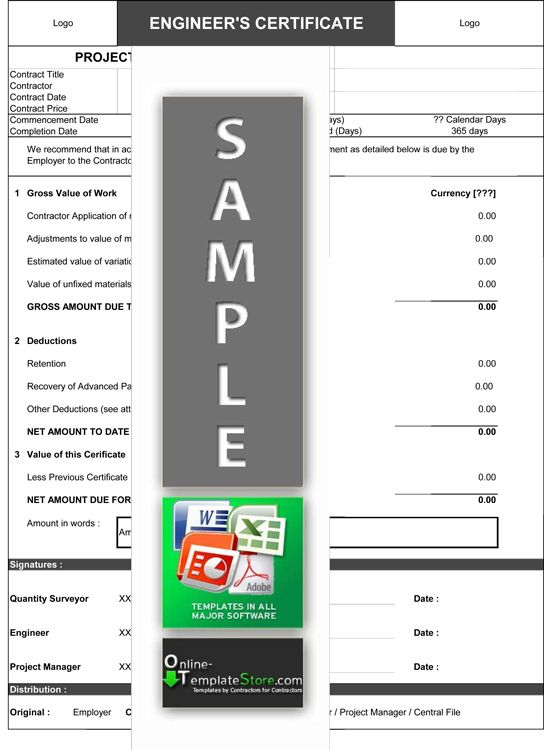 Monthly Payment Certificate Cost Control Templates Pinterest