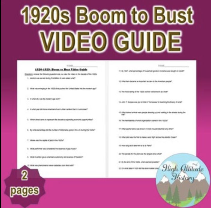 1920s Boom To Bust Video Guide