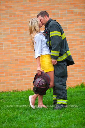 firefighter engagementkelsey myers meyer look at all of