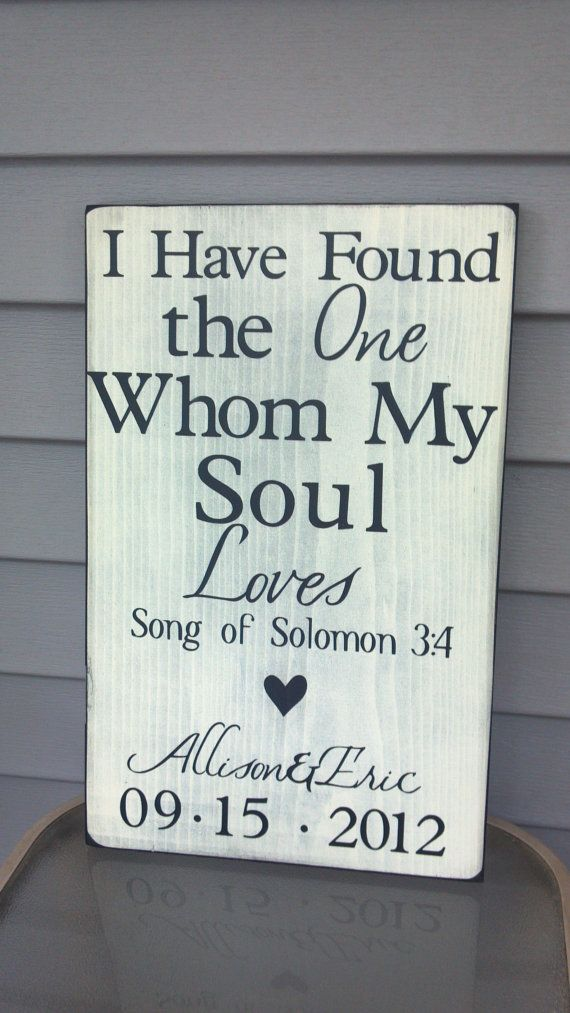Custom Wedding Art I have found the one whom my by CASignDesign, $40.00