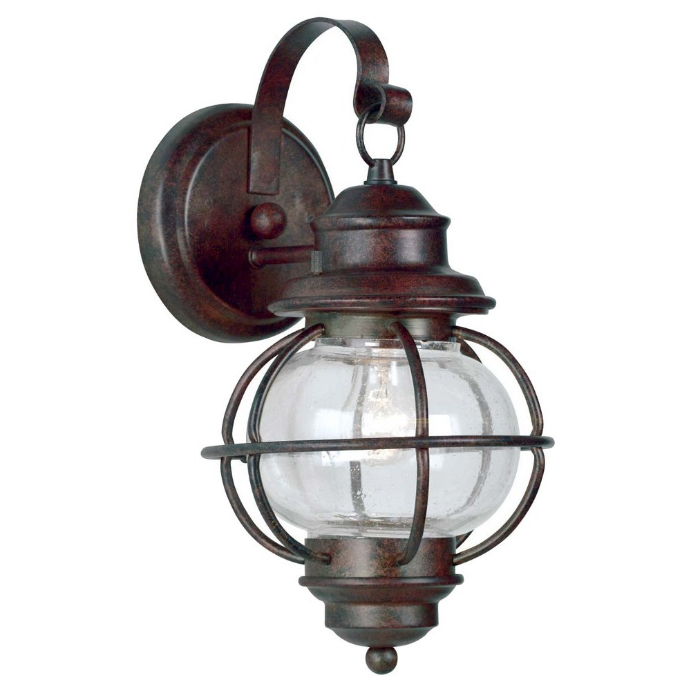 Kenroy home hatteras small wall lantern gilded copper walls and