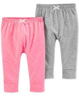 36ebdfb259212 Baby Girls 2-Pk. Cuffed-Hem Pants in 2019 | Products | Carters baby ...