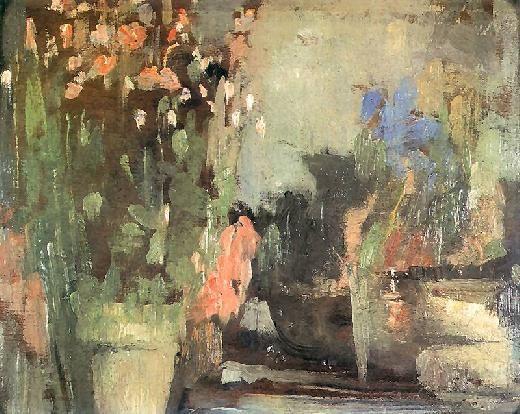 Kwiaty Na Tarasie Olga Boznanska Olga Boznanska Painting Female Painters