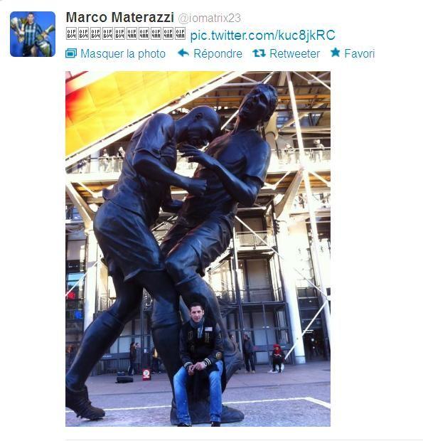 Immortalized Zidane Vs Materazzi French Language Blog Marco Materazzi Statue Zinedine Zidane