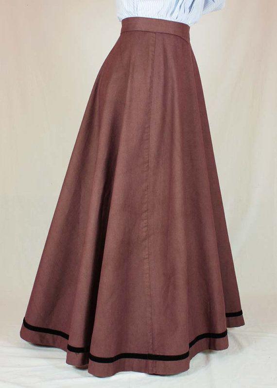 Edwardian Skirt Fan Skirt Worn About 1890 Sewing Pattern