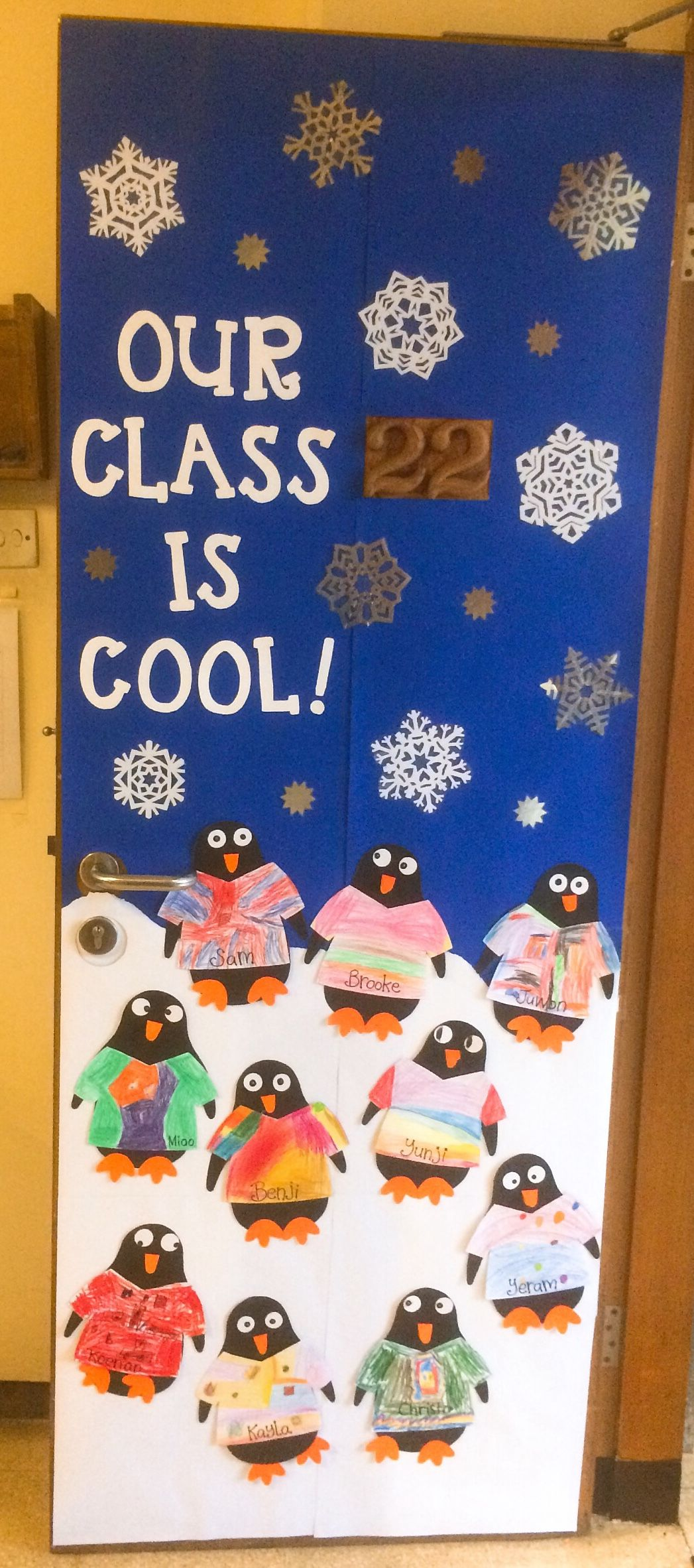 Photo of Winter Penguin themed Classroom Door 🐧❄️ penguin crafts made by our lovel…