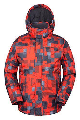 2838994654d23 Mountain Warehouse Veste de ski à imprimé Shadow avec capuche pour hommes  doublure polaire Hiver  La veste de ski imprimée Shadow pour…