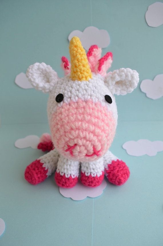 Lil Unicorn Pattern Amigurumi Crochet By Amiamour On Etsy Crochet