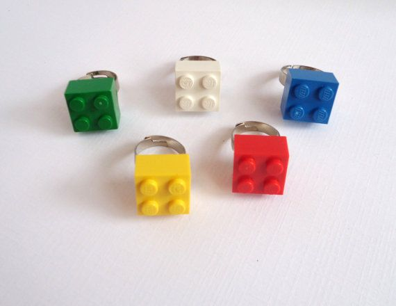 5 Lego Rings Lego Party Favors Stocking Stuffers by TimelessToyBox