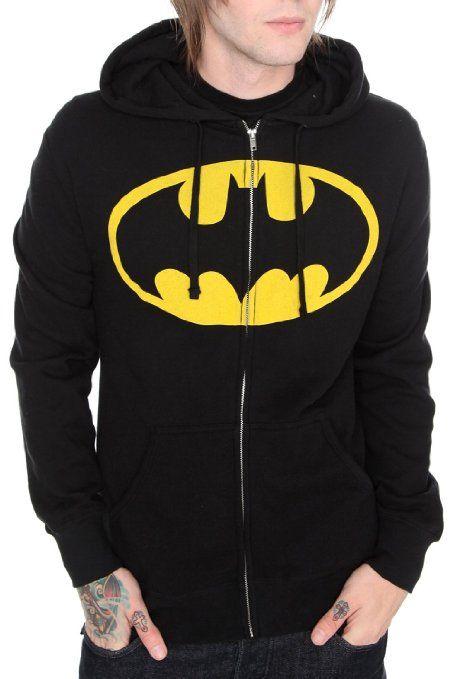 d4c8cf6663d Amazon.com  DC Comics Batman Zip-Up Hoodie Size   Medium  Clothing ...