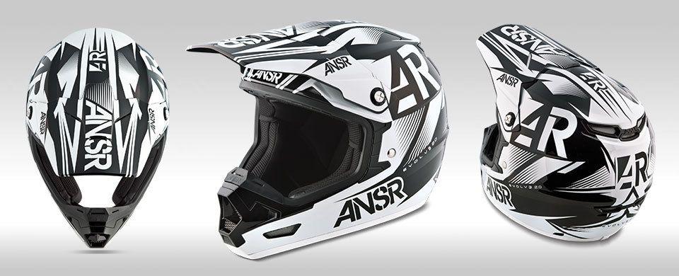Motobarn - 2015 ANSWER EVOLVE 2.0 HELMET - BLACK WHITE, $179.95 (http://www.motobarn.com.au/2015-answer-evolve-2-0-helmet-black-white/)