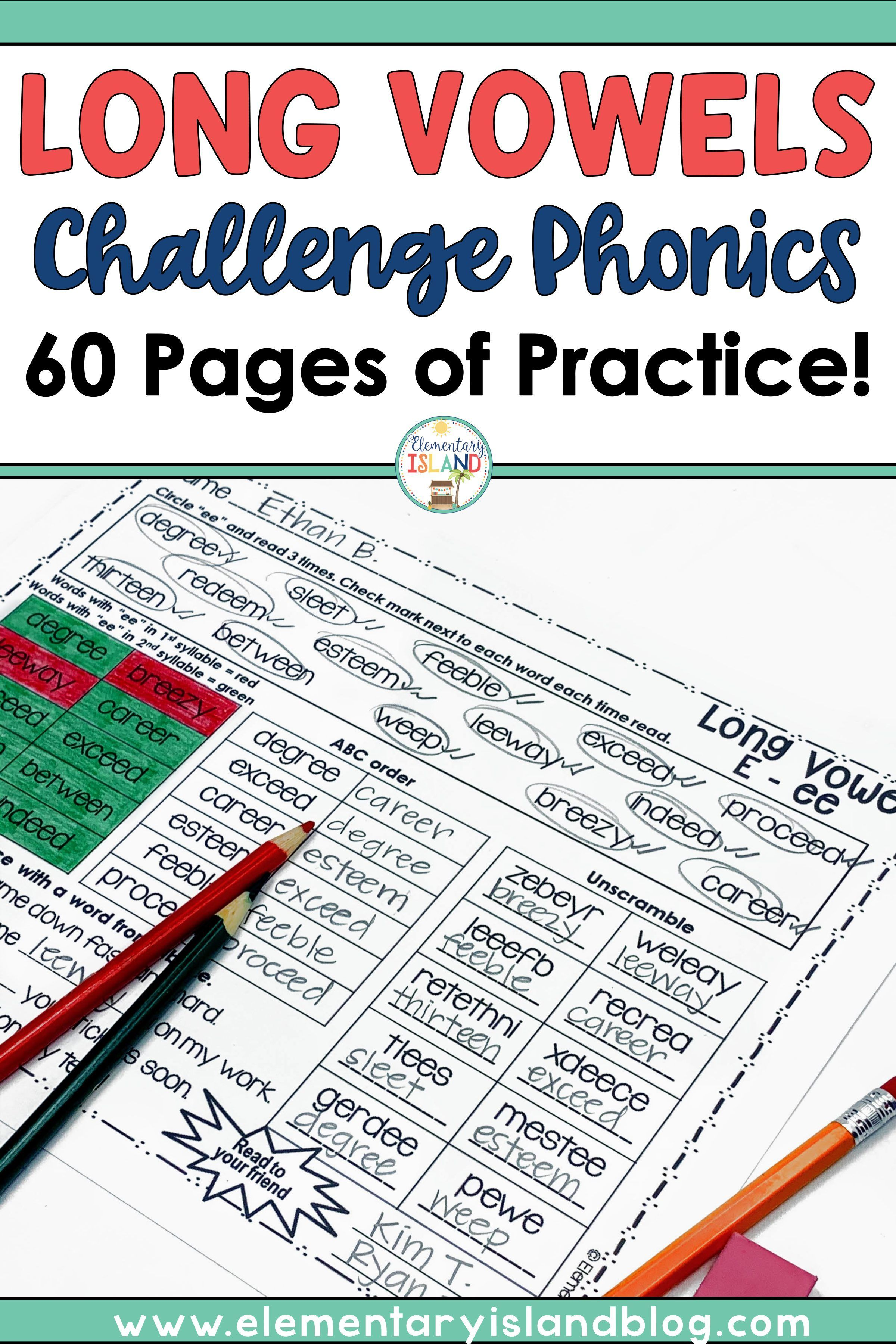 hight resolution of Challenge Phonics Bundle - Diphthongs