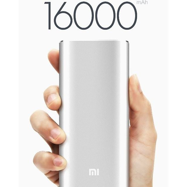 Powerbank Xiaomi 16000 mah  Vibrant aluminum casing surrounds dual battery cell technology from LG and Samsung. - World-class chipset protection. - Optimized for charging efficiency.Up to 93% conversion rate. - Compatible with a spectrum of devices.Easily charge smartphones and tablets from Mi Apple Samsung HTC Google and BlackBerry as well as a variety of digital cameras and handheld gaming devices.  16000mAh Xiaomi power bank LG / Samsung Import batteries all aluminum alloy shell!  Adopt…