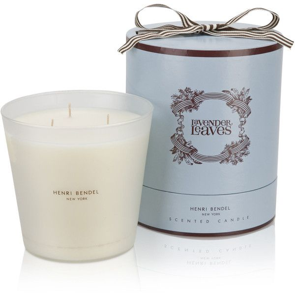 Henri Bendel Luxe Lavender Leaves Candle featuring polyvore, home, home decor, candles & candleholders, candles, european home decor, flower home decor, rose candle, leaf candles and henri bendel candles