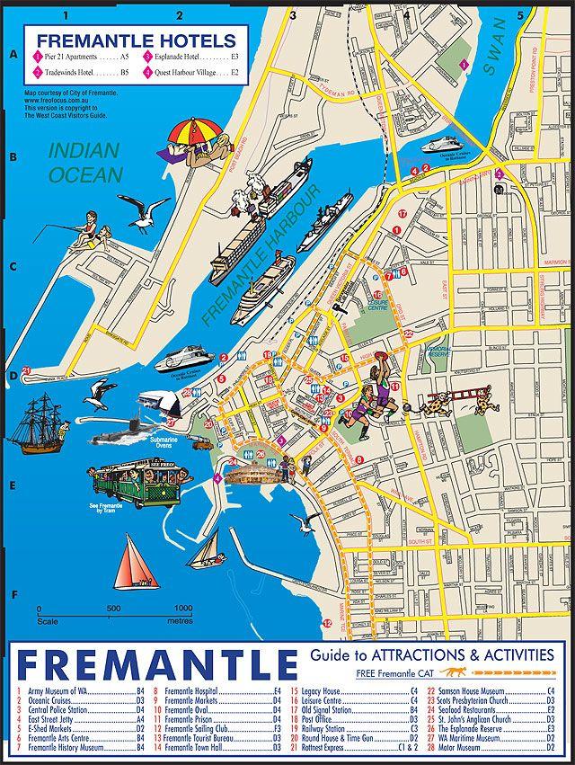 Map Of Fremantle Google Images Reisen E 500
