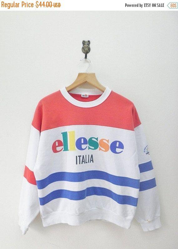 15a9b98e2a ON SALE 15% Vintage 80's Ellesse Italia Color by RetroFlexClothing