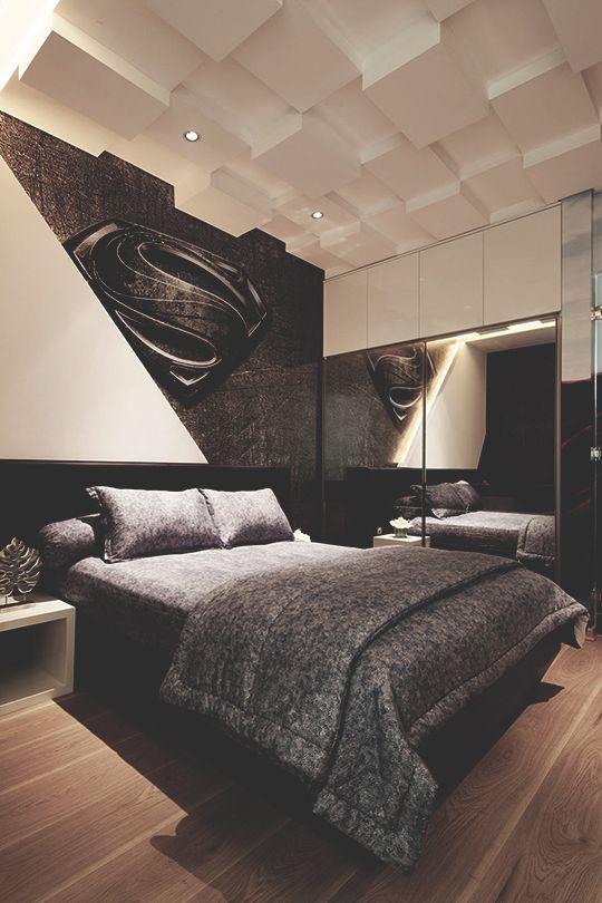 "modernambition: ""Superman Room   Instagram""   Modern bedroom ..."