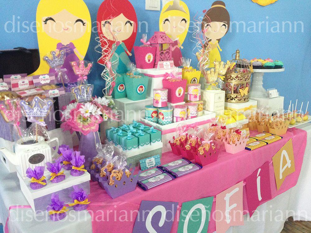 Mesa de las princesas disney mesas de dulces pinterest - Mesas infantiles disney ...