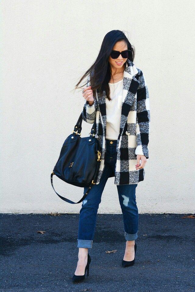 Que en tu armario no te falte un abrigo con #estampado de cuadros, le dará un plus de elegancia a cualquier #outfit