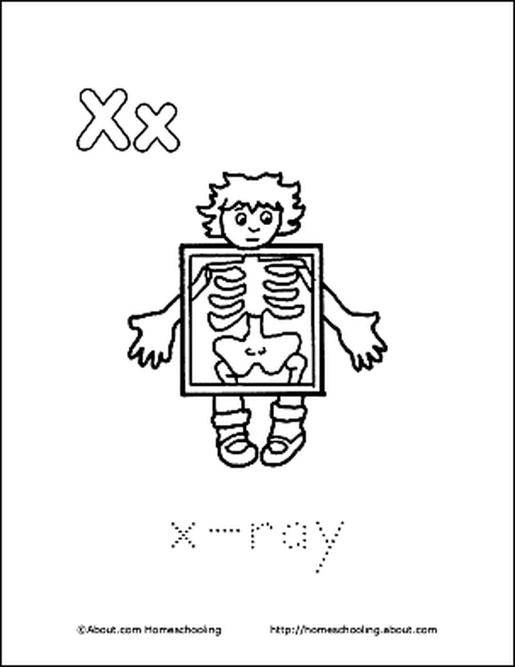 Letter X Coloring Book Free Printable Pages A Books Rhpinterest: Free Printable X Ray Coloring Pages At Baymontmadison.com