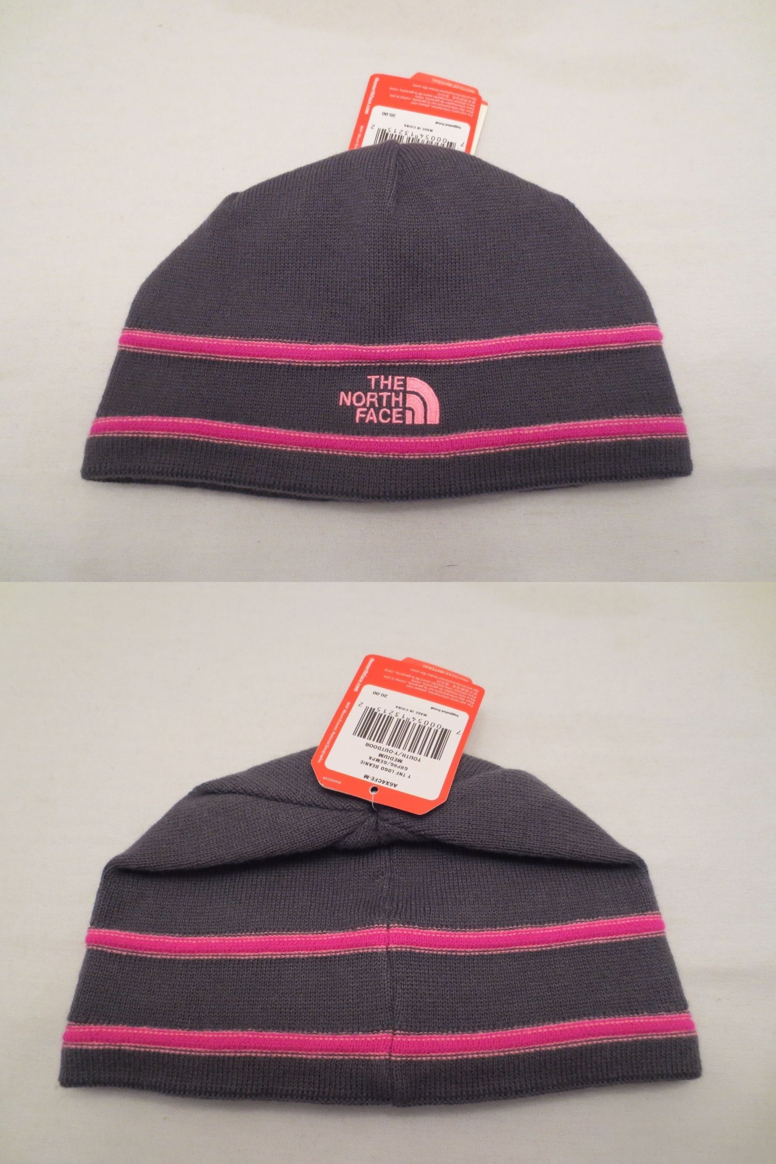 d9a17956ff9 Other Kids Clothing and Accs 175640  The North Face Logo Beanie Tnf  Graphite Grey Pink