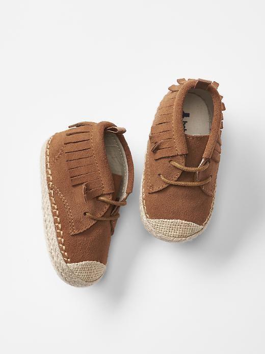 Moccasin fringe sneakers