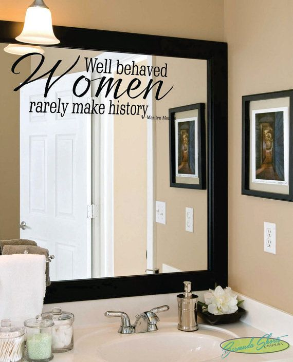 well behaved women / marilyn monroe / famous quotes