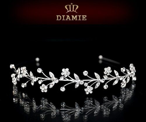 AD265 DIAMIE Diadem Strass Tiara Braut Hochzeit Haarschmuck