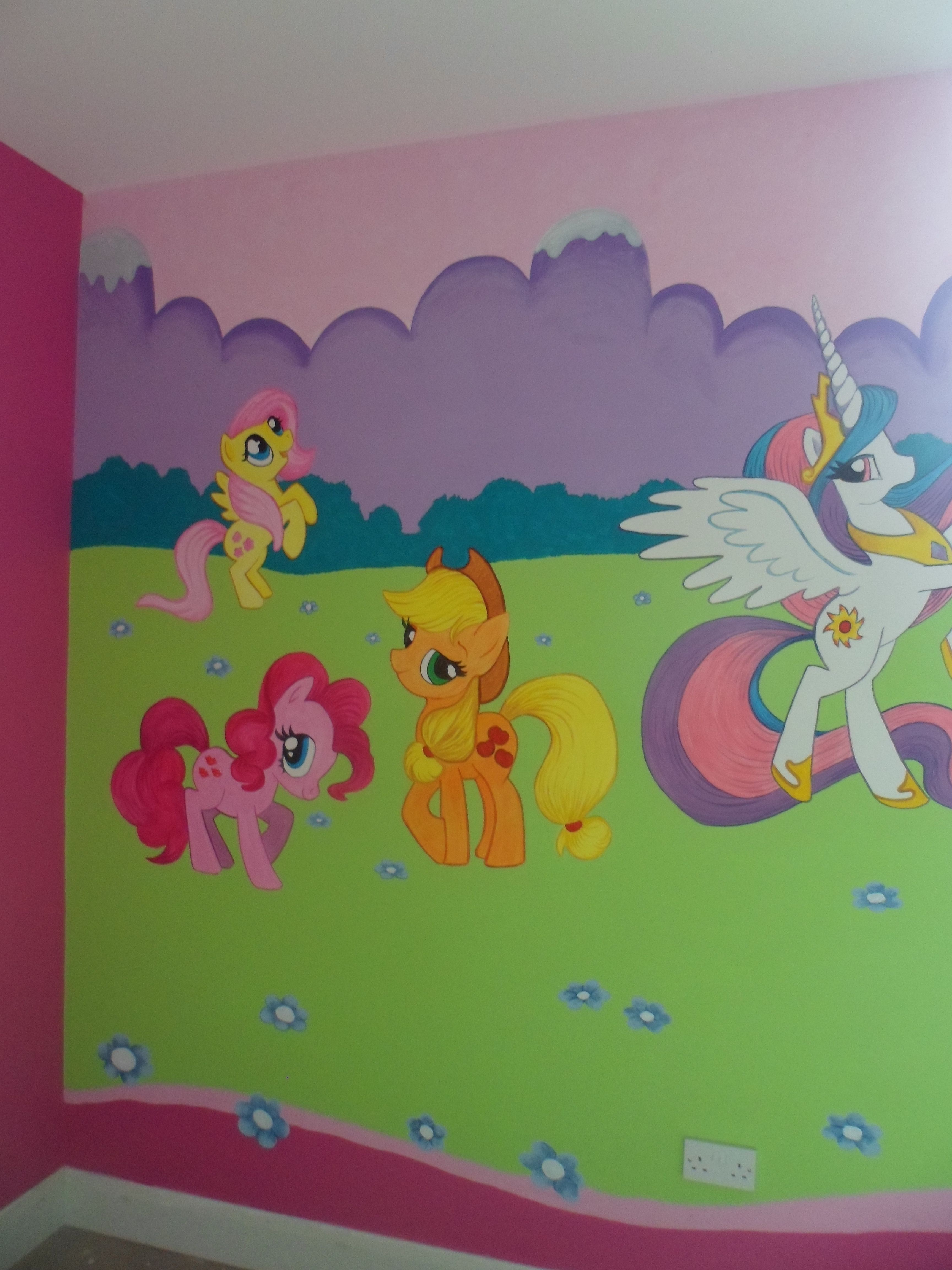 My Little Pony Mural For Girls Bedroom Loads Of Characters