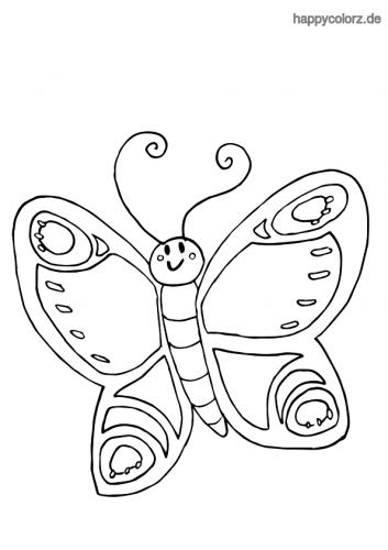 Frohlicher Schmetterling Ausmalen Schmetterling Ausmalen Ausmalen Ausmalbilder Schmetterling