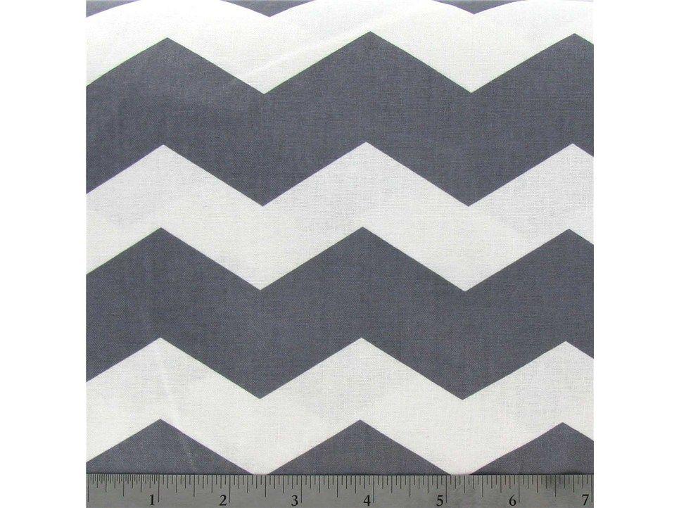 APT4-32 Gray  White Chevron Fabric
