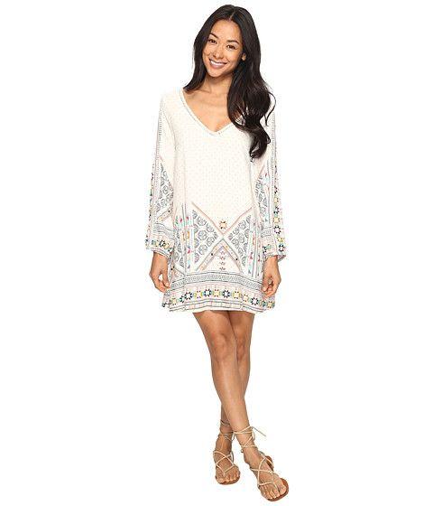 Roxy April Morning Long Sleeve Dress Marshmallow Tex Mex Border - Zappos.com Free Shipping BOTH Ways