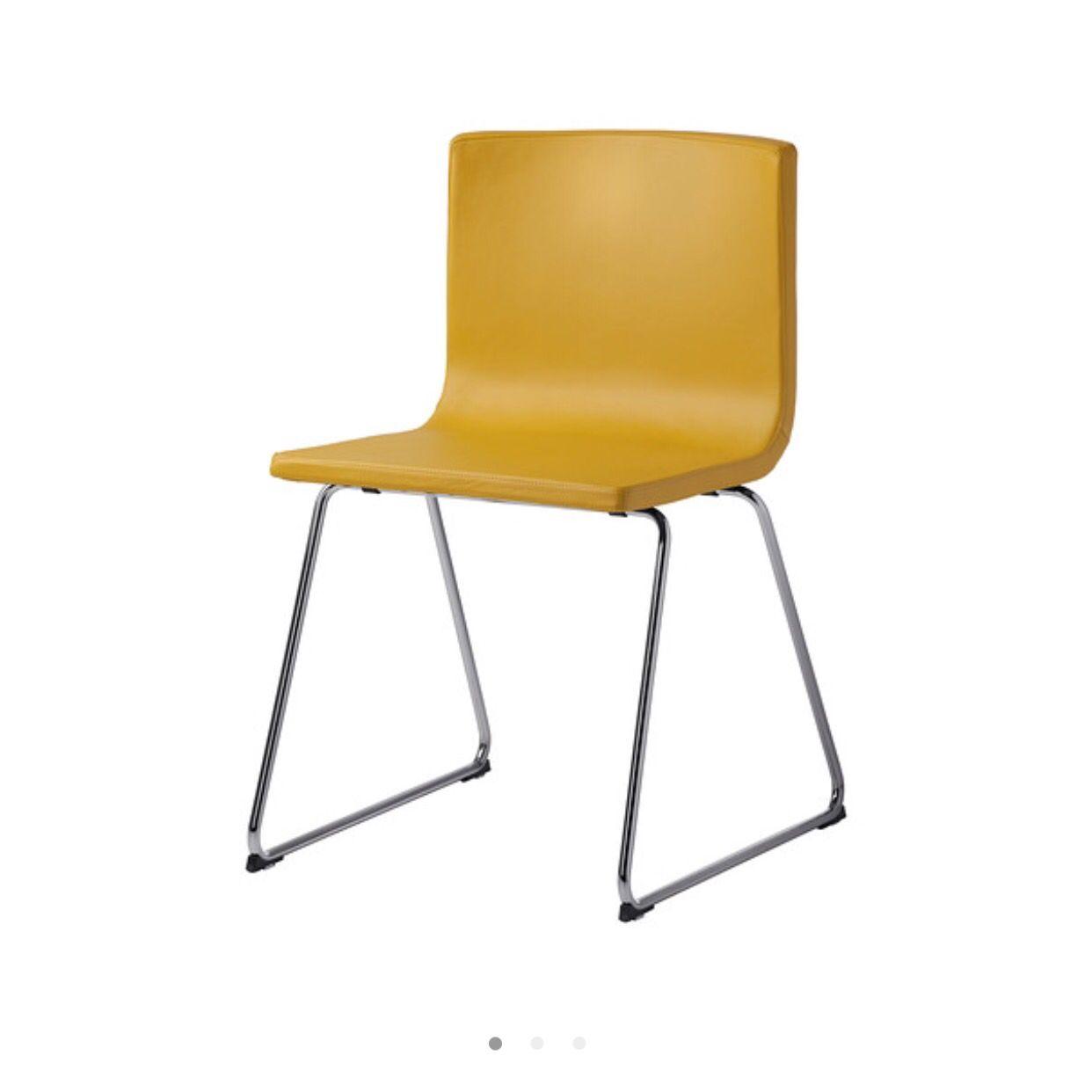 Yellow Leather Dining Chair 100 Ikea Klappstol Ikea Stol