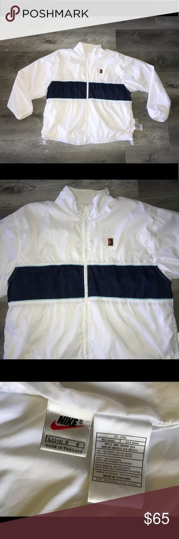 Women S Vintage 90s Nike Reversible Tennis Jacket Nike Women Jackets