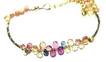 Tiny Multi Sapphire Delicate Gold Bracelet http://www.notonthehighstreet.com/prishajewels/product/tiny-multi-sapphire-delicate-gold-bracelet