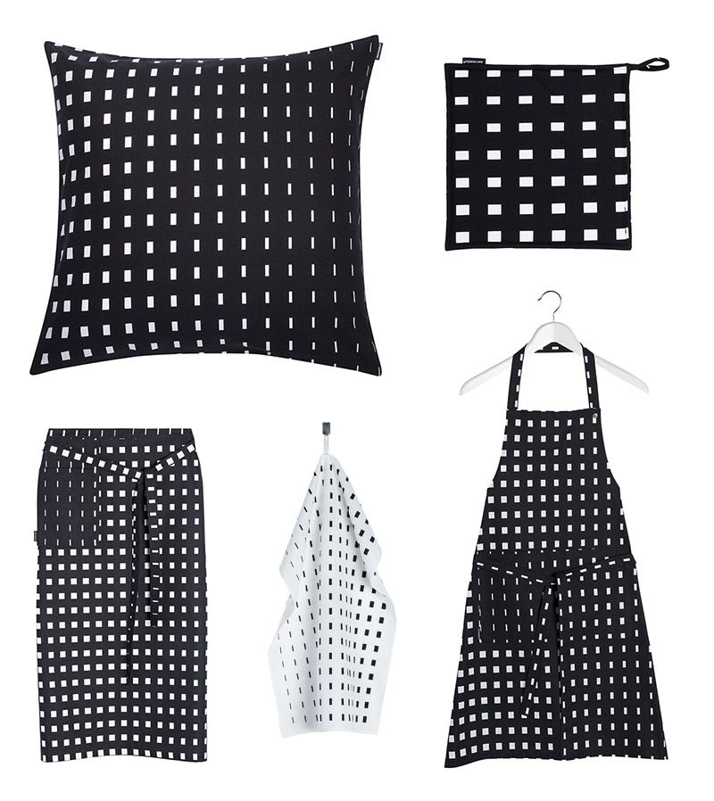 Add some elegant black and white style to your home decoration with Marimekko Kullervo