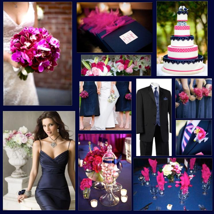 navy and fuschia wedding - Google Search   Our Wedding   Pinterest ...