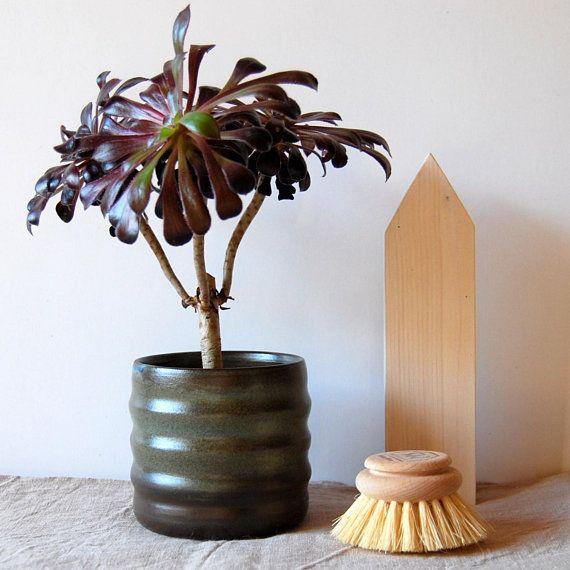 Plant pot Ceramic planter Brown succulent pot Cactus pot Plant ...