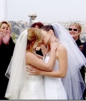 Lesbian Weddings Lesbian Couple Shares An Intimate Moments After
