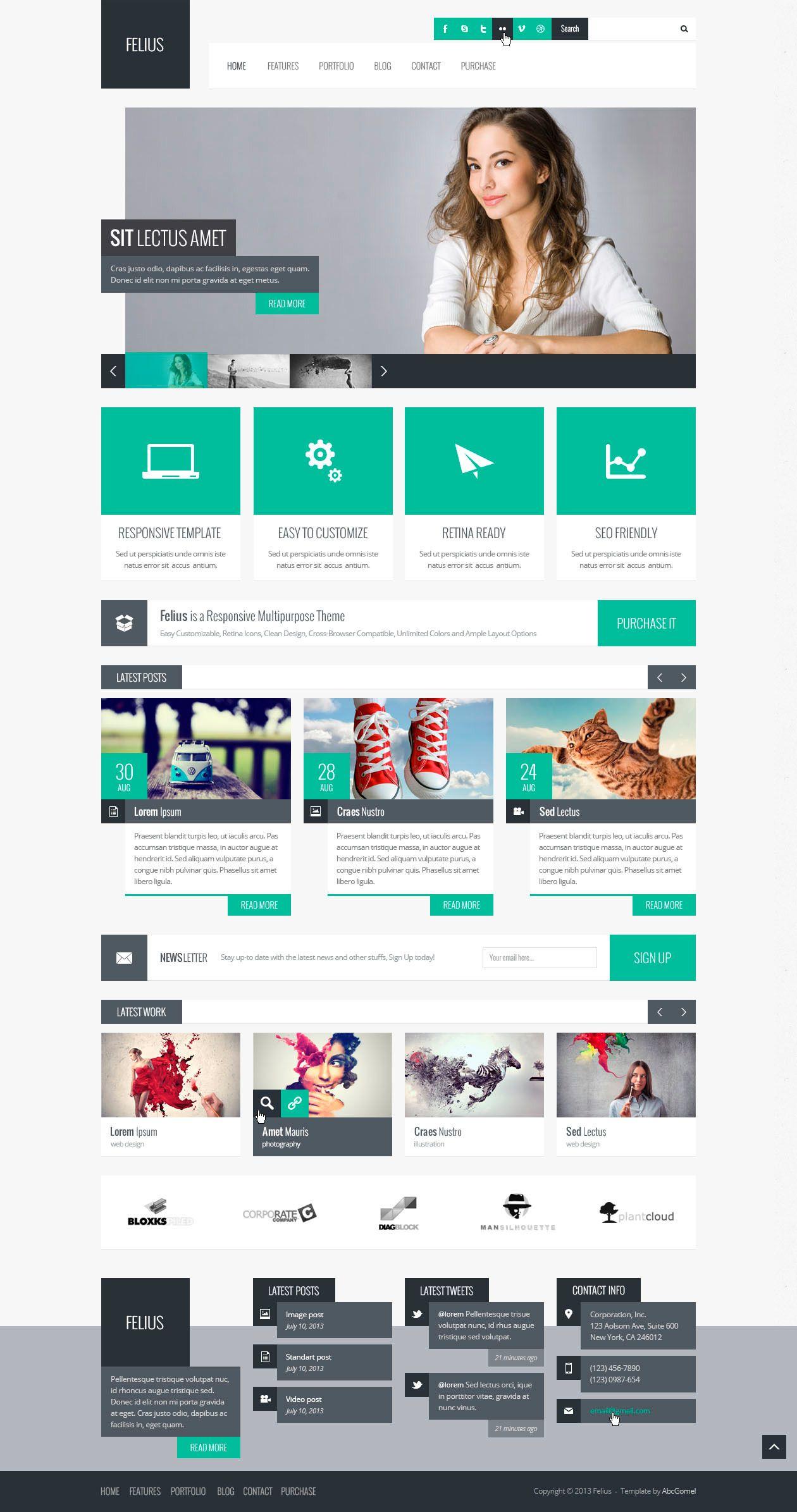Clean grey and teal #web #design #square | Web/app Design ...