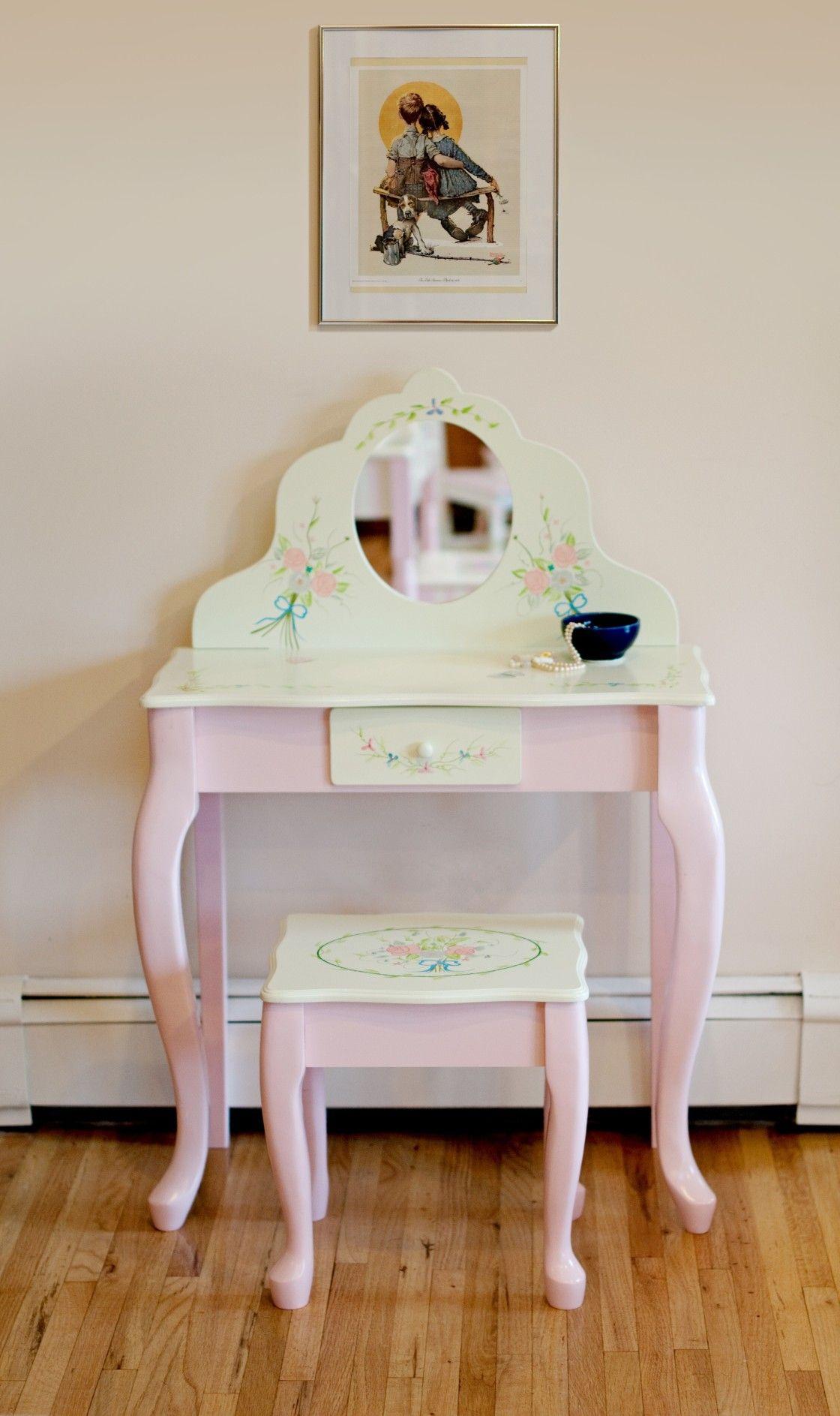 Beautiful Furniture Ideas Of Kids Girls Vanity Set Design