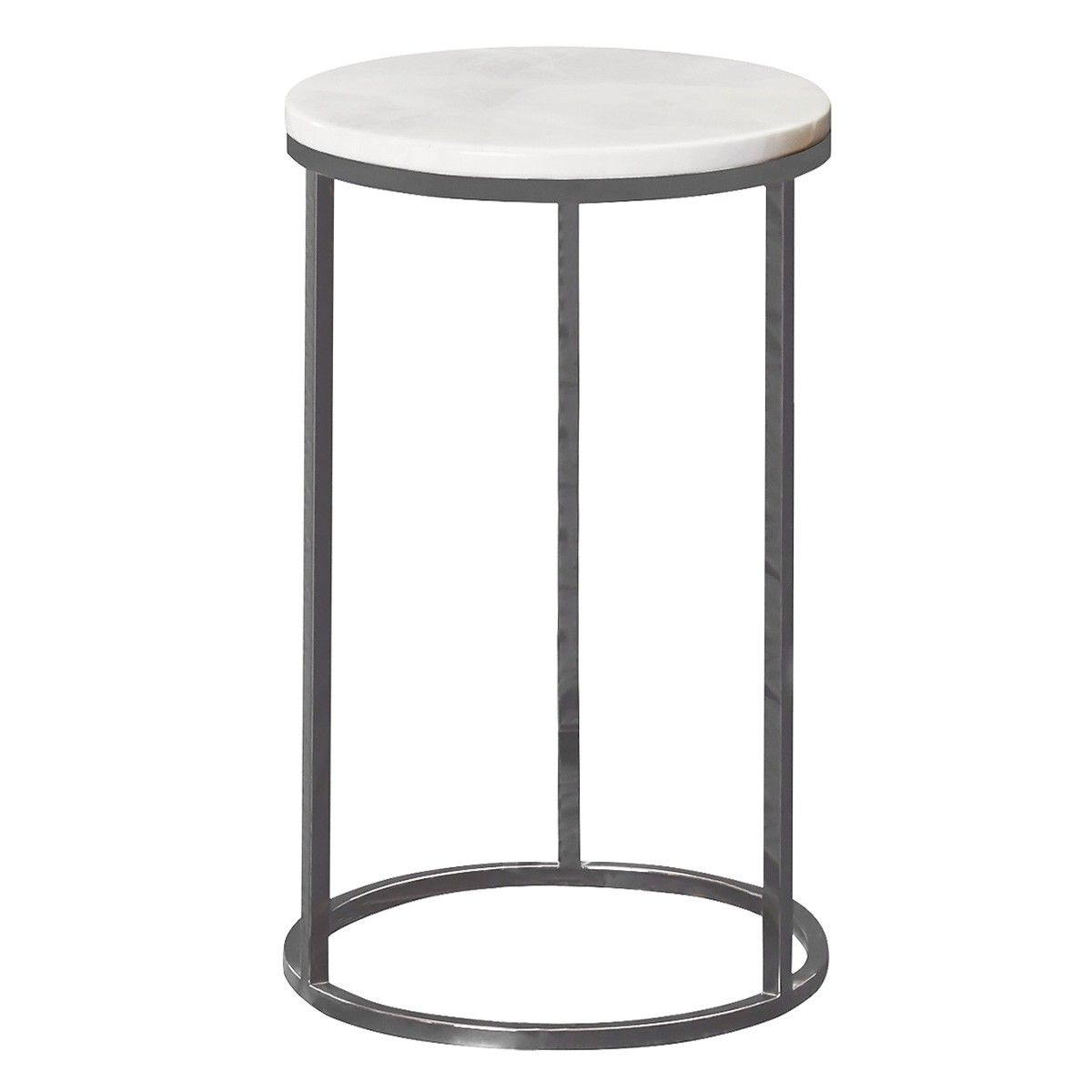 Whitney Marble Top Metal Round Side Table Small Side Table Round Metal Side Table Round Side Table