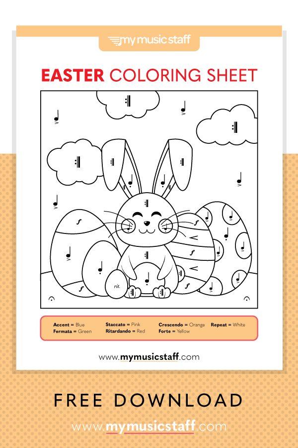 Easter Coloring Sheet Free Music Activity Sheet From Easter