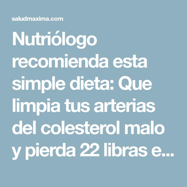 Que recomienda un nutriologo para bajar de peso