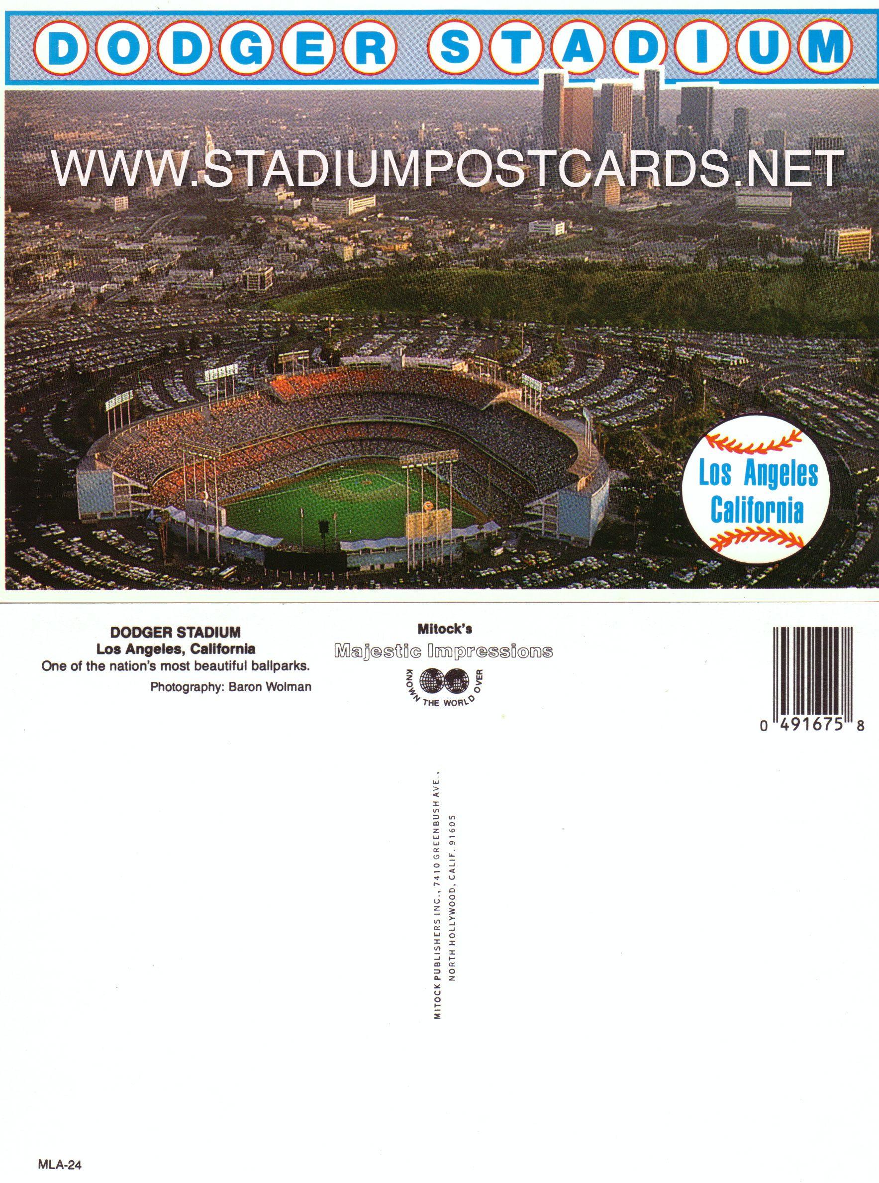 € 0,70 - code : USA-003 - Los Angeles - Dodger - stadium postcard cartolina stadio carte stade estadio tarjeta postal