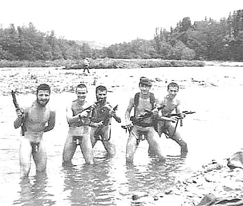 Vintage nude military men