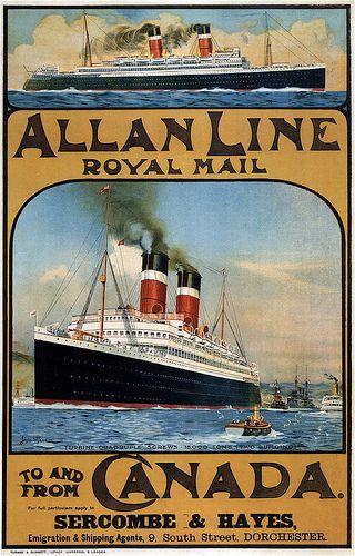 Allan Line Royal Mail. 1913 | 500 Schepenposters - Vintage ...