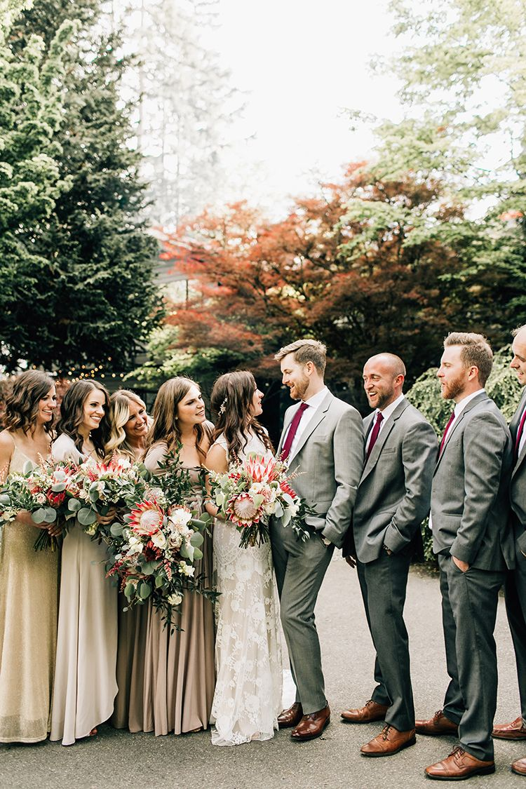 Boho pacific northwest forest wedding with king protea pinterest