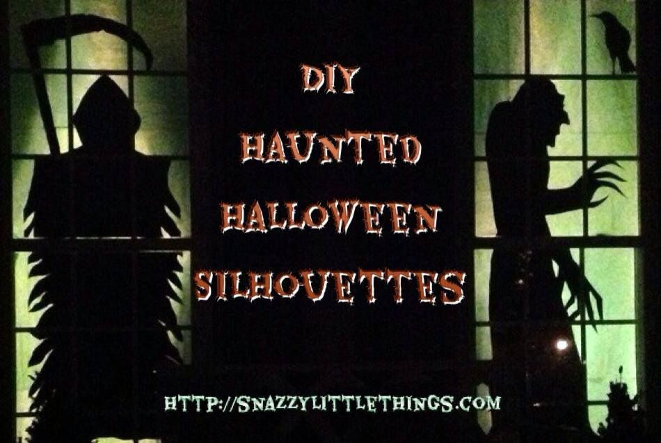 DIY Halloween Silhouettes / Haunted House Halloween silhouettes - halloween decorations haunted house